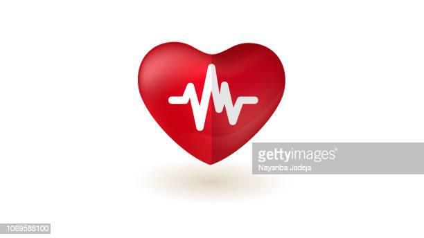 heart pulse icon - defeat stock illustrations