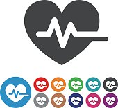 Heart Pulse Icons - Graphic Icon Series