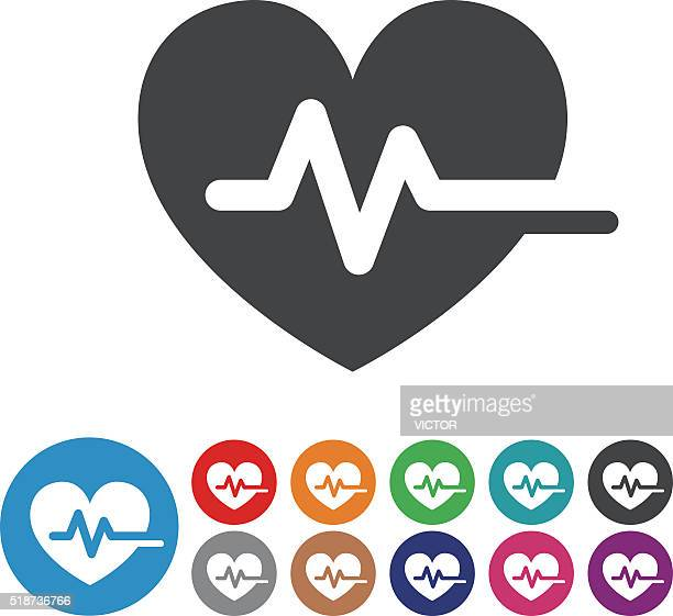 ilustraciones, imágenes clip art, dibujos animados e iconos de stock de pulso corazón de iconos-serie icono gráfico - cardiólogo
