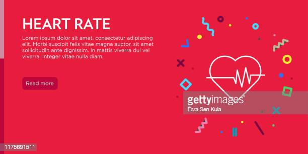 ilustraciones, imágenes clip art, dibujos animados e iconos de stock de concepto de frecuencia cardíaca. geometric pop art y retro style web banner y poster concept con heart icon. - cardiólogo