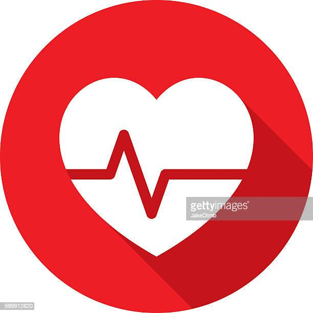Heart Rate Icon Silhouette