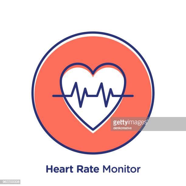 ilustrações, clipart, desenhos animados e ícones de monitor de frequência cardíaca - cardiovascular exercise