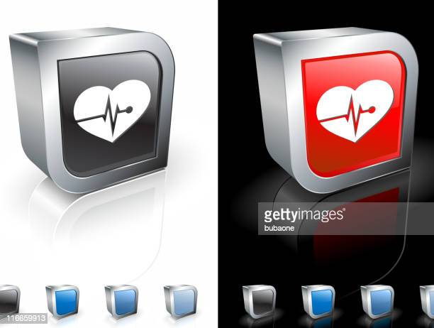 heart rate square royalty free vector art - cardiac conduction system stock illustrations