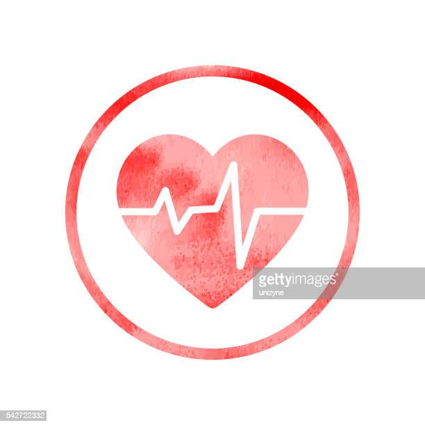 Heart rhythm medical icon