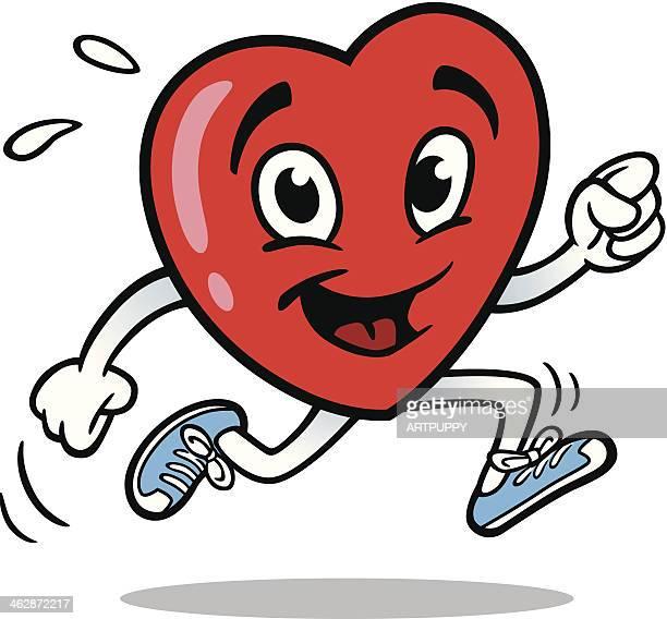 ilustrações, clipart, desenhos animados e ícones de coração de corrida - cardiovascular exercise