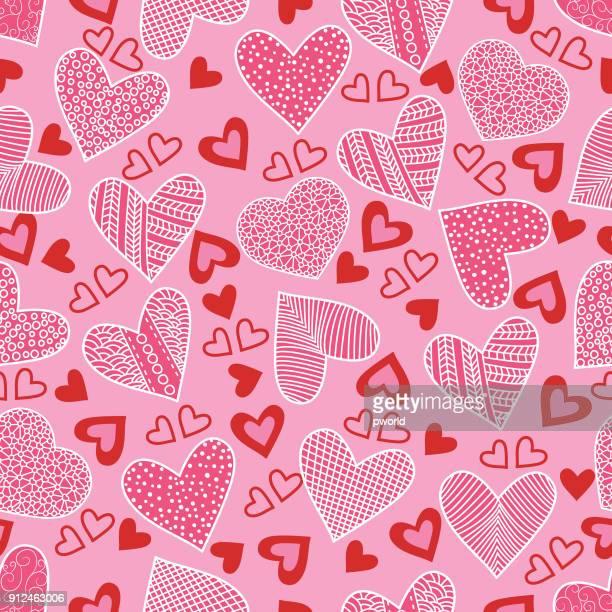 heart seamless pattern . - valentine card stock illustrations