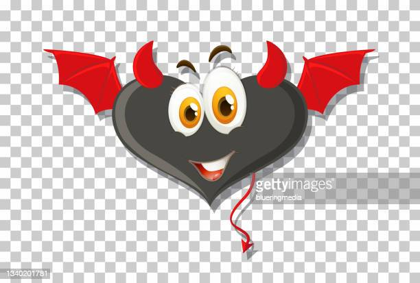 heart shape devil with facial expression