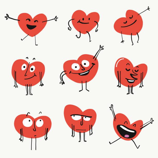 heart shape emoticons - heart shape stock illustrations