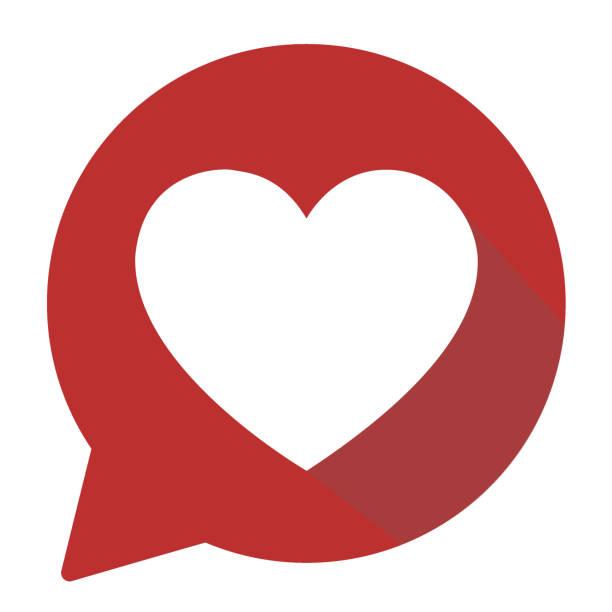 heart shape icon - heart shape stock illustrations