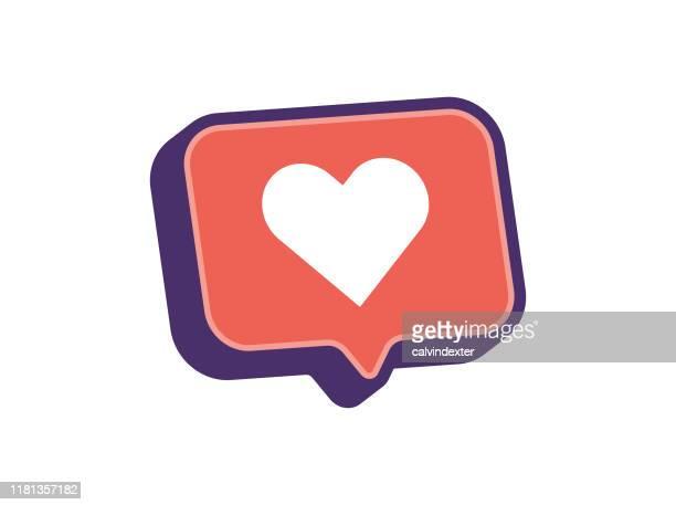 ilustraciones, imágenes clip art, dibujos animados e iconos de stock de forma del corazón en burbuja de habla 3d - novios