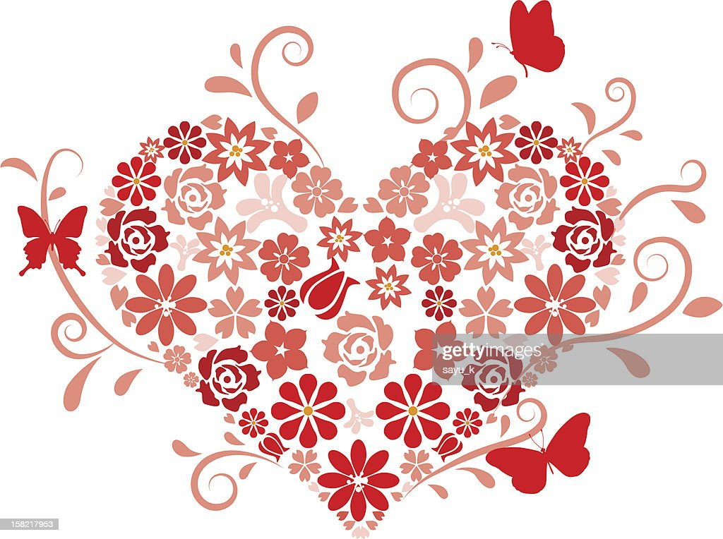 Heart Shape maked by flowers