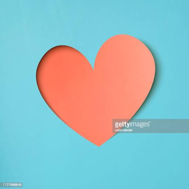 heart shape paper art valentines day design - bonding stock illustrations