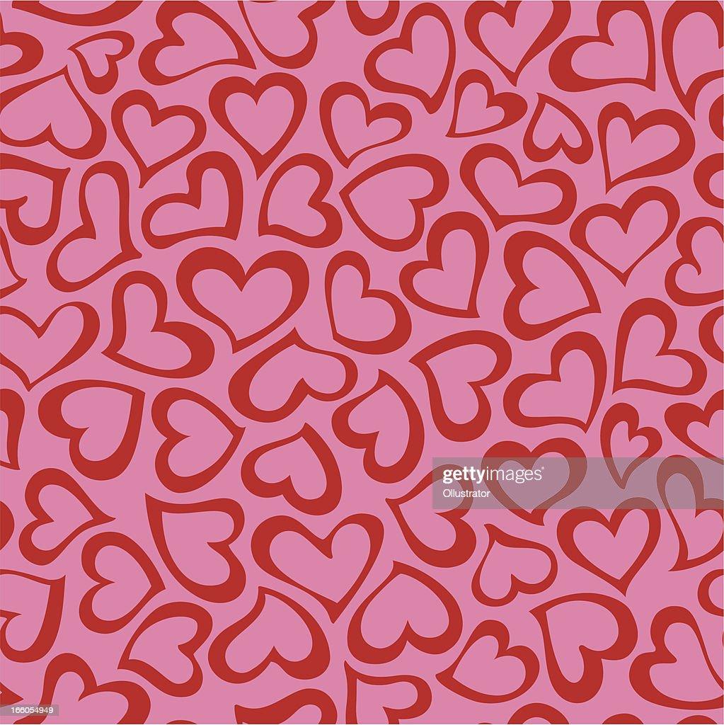 Heart shape seamless pattern : Vector Art