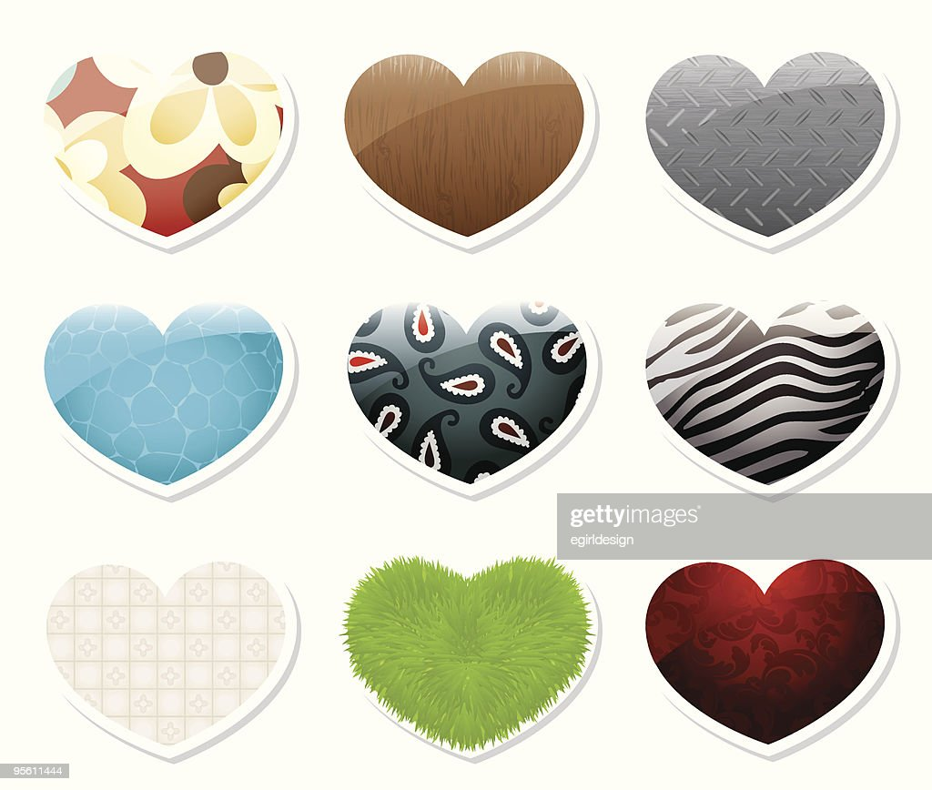 Heart shape stickers/icons