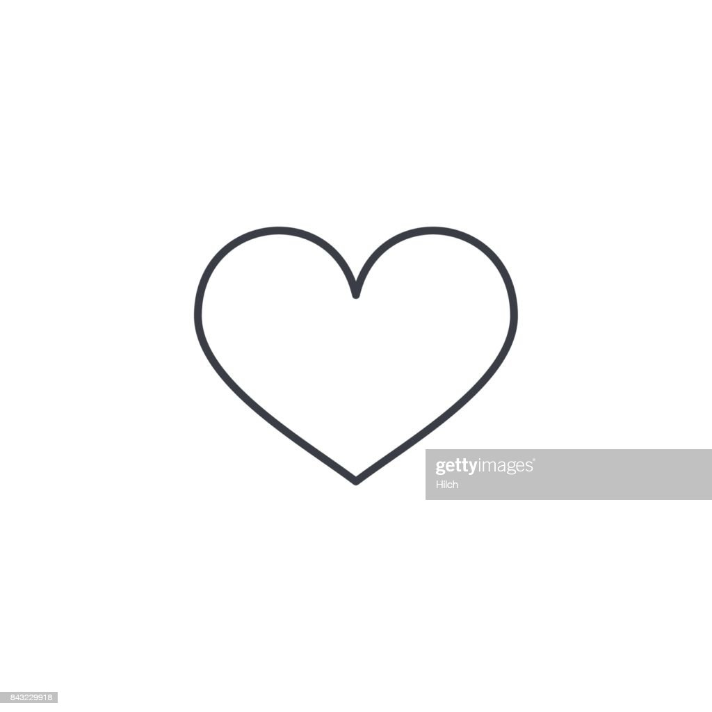 heart shape thin line icon. Linear vector symbol