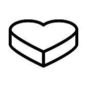 heart shape Thin Line Vector Icon