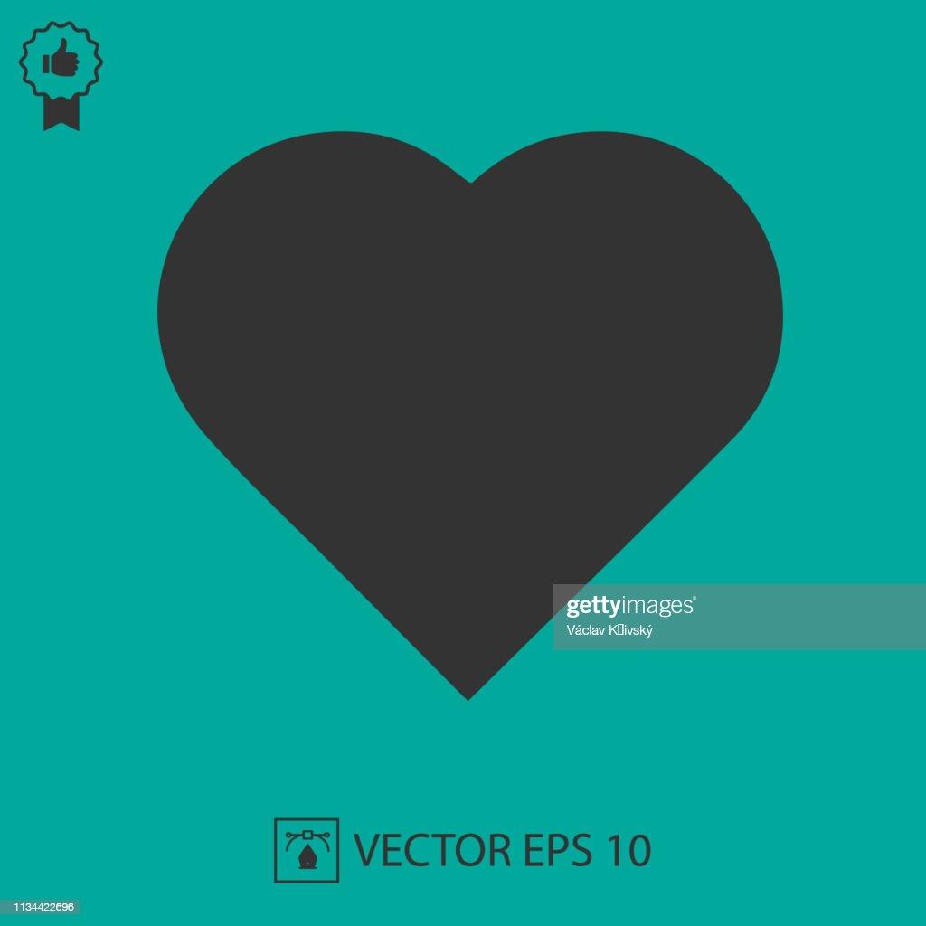 Heart shape vector icon