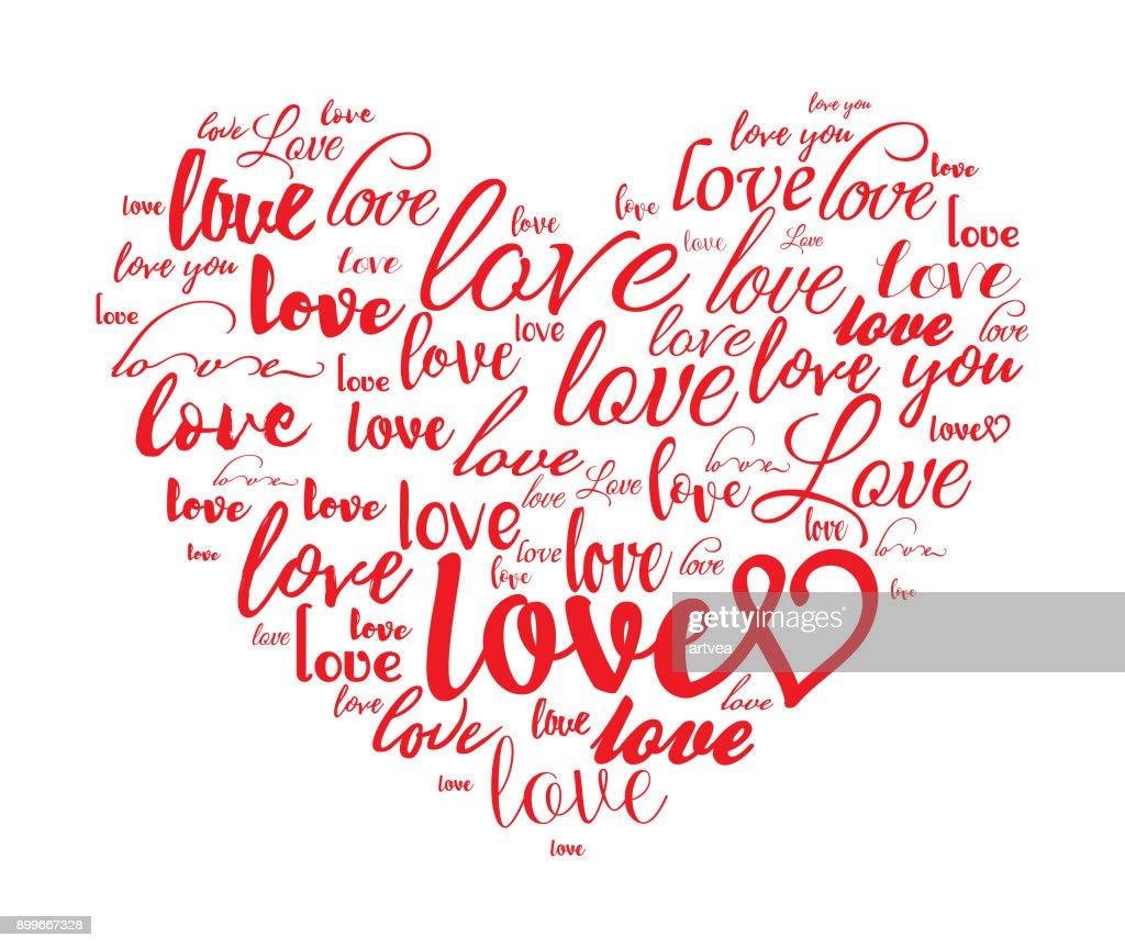 Heart shape with LOVE.
