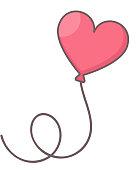 Heart shaped air balloon.