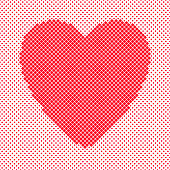 Heart shaped background design from red squares - vector graphic for Valentine's Day