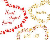 Heart shaped frames for stock