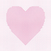 Heart shaped love concept background design - vector pattern graphic