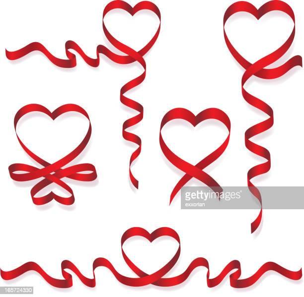 Herzförmiger Band