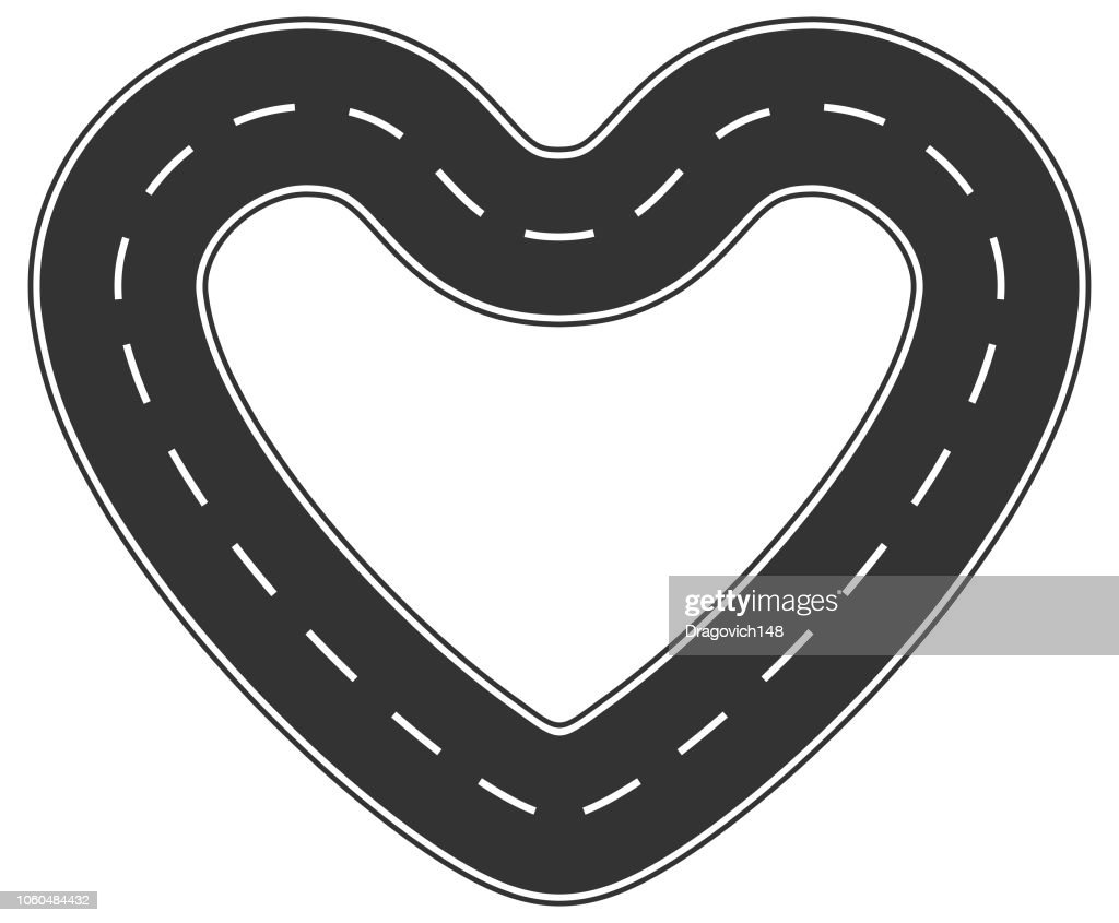 Heart shaped road
