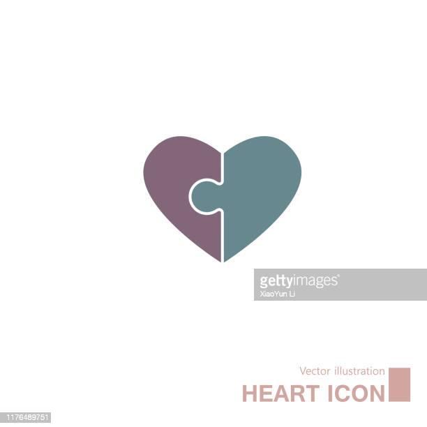 heart shaped symbol design. - composition stock illustrations