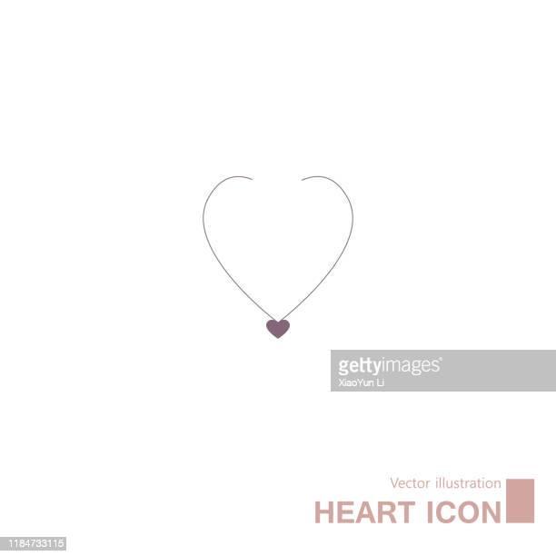heart shaped symbol design. - choker stock illustrations