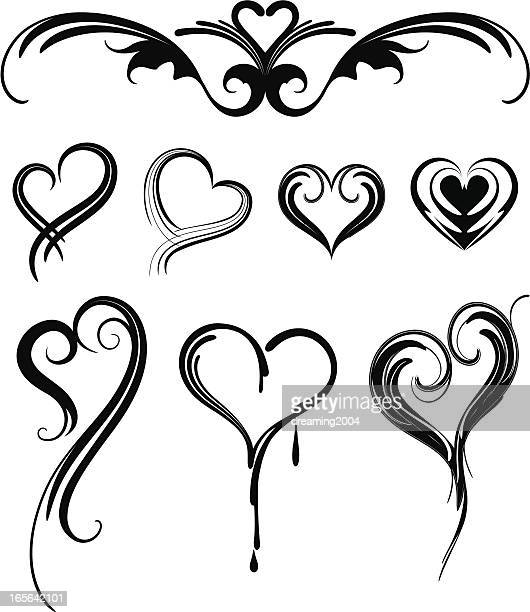 heart shaped tattoo designsのイラスト素材と絵 getty images