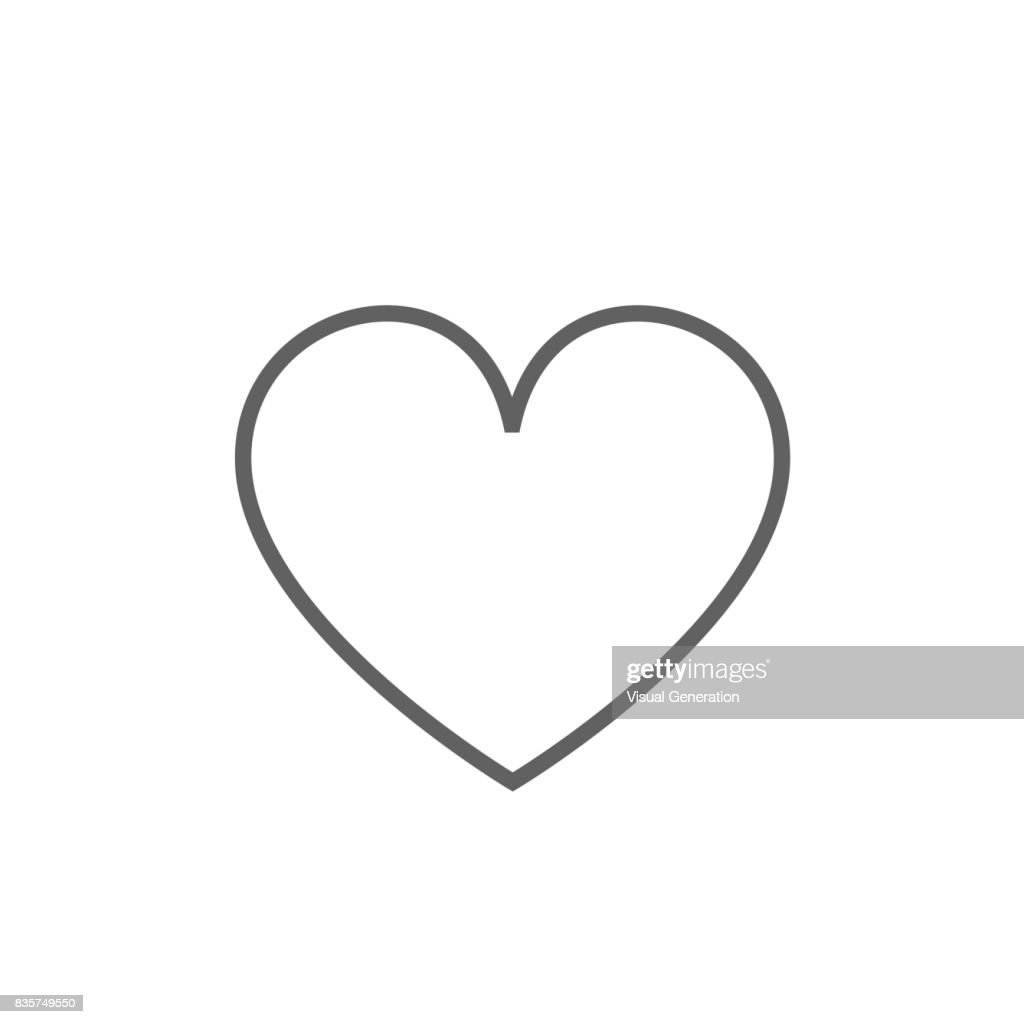 Heart sign line icon