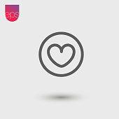 Heart Simple Vector Icon. Vector Emblem. Vector Pictogram Clipart