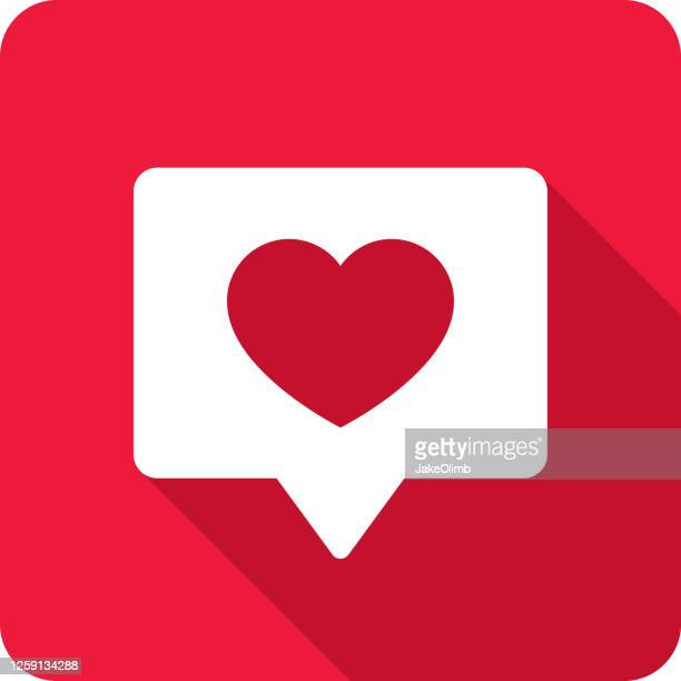 heart speech bubble icon silhouette - following stock illustrations