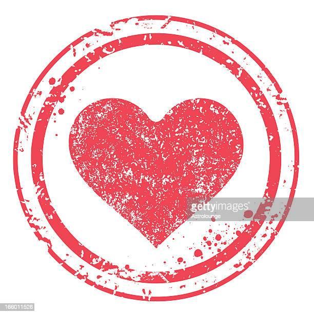 Herz-Briefmarke