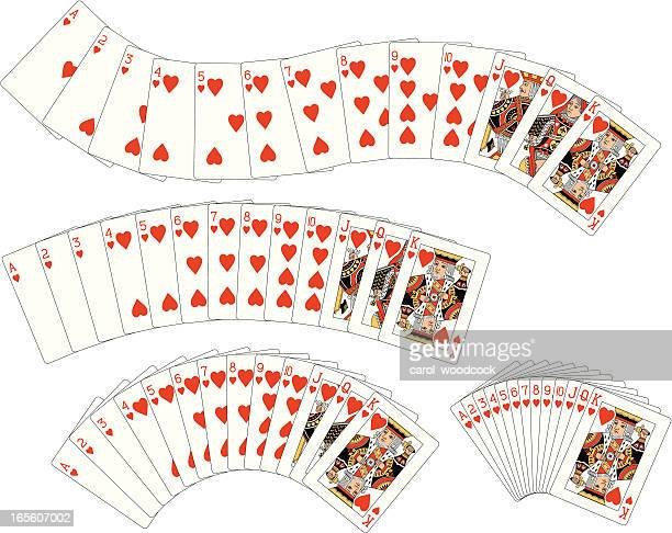 Heart Suit Flush playing cards