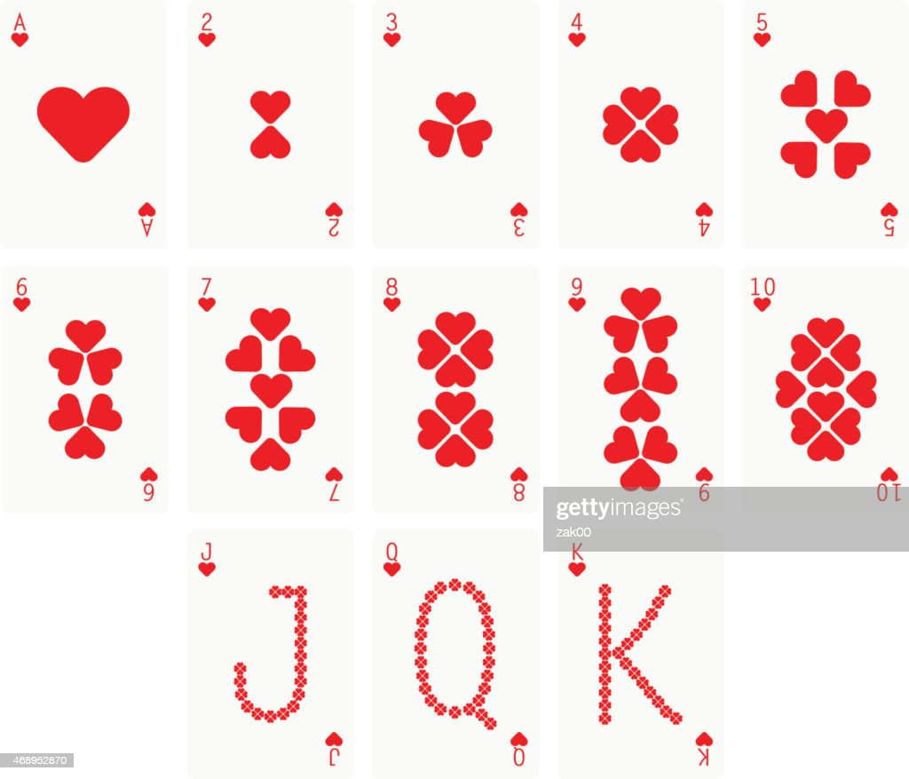 Heart Suit Two Playing cards : stock illustration