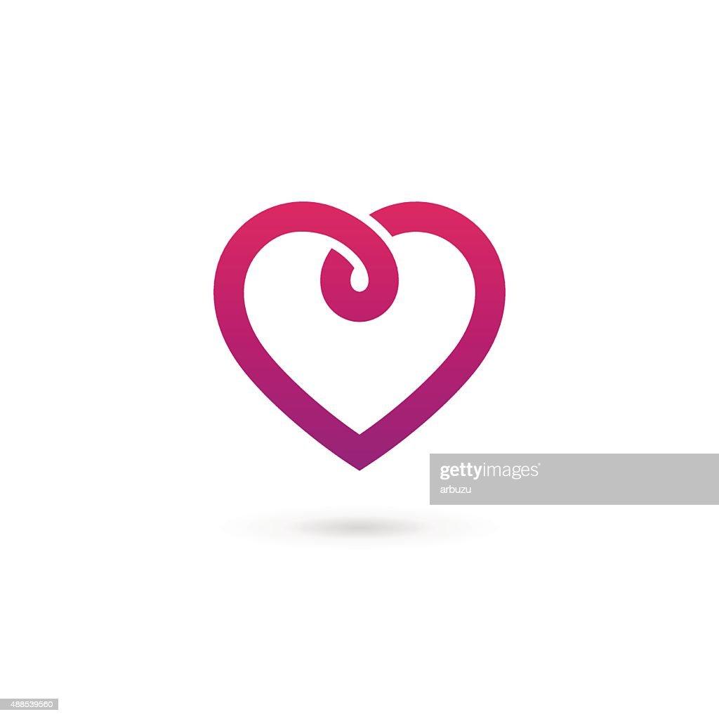 Heart symbol icon design template