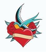 heart tattoo emblem