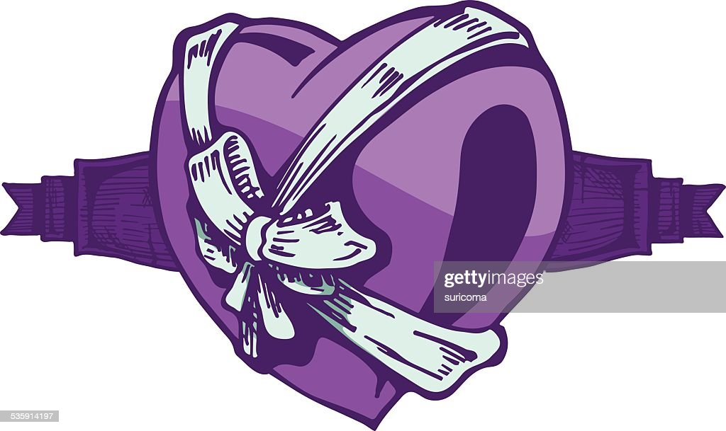 Heart tattoo. : Vector Art