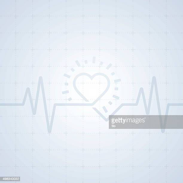 Heart Trace Background