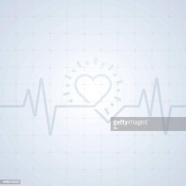 Herz Trace Hintergrund