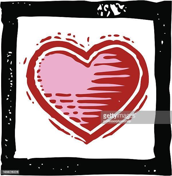 heart - woodcut stock illustrations, clip art, cartoons, & icons