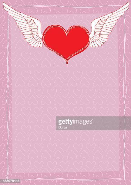 Coração com asas de Letra