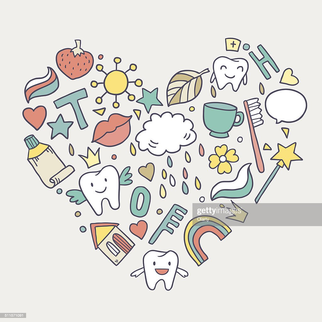 Heart with cartoon teeth