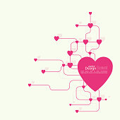 Heart with links.