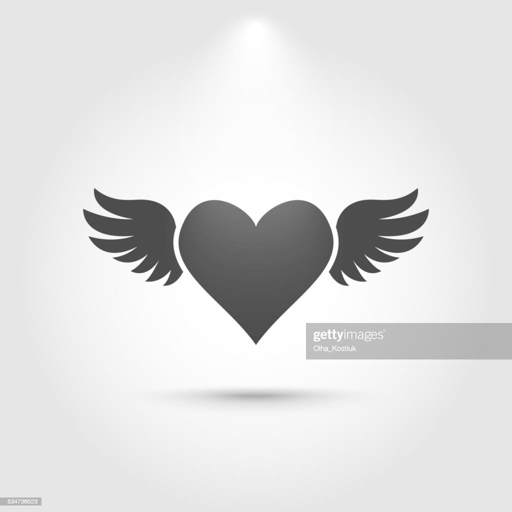 Heart with wings icon