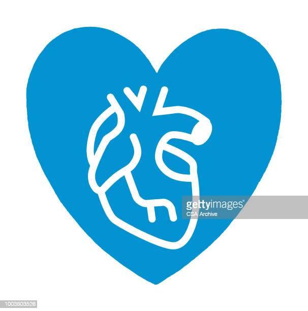 心臓内の中心 - heart shape点のイラスト素材/クリップアート素材/マンガ素材/アイコン素材