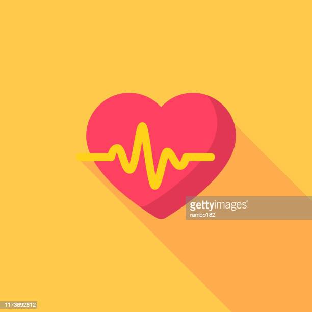 heartbeat flat icon. pixel perfect. for mobile and web. - cardiovascular exercise stock illustrations, clip art, cartoons, & icons