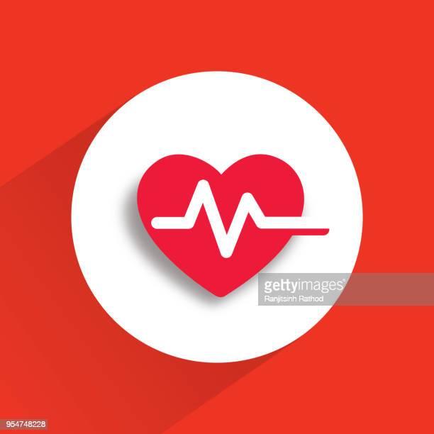 ilustraciones, imágenes clip art, dibujos animados e iconos de stock de icono de latido cardíaco  - cardiólogo